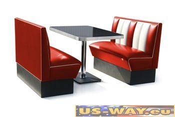 reproduktion amerikanischer dinerb nke fach. Black Bedroom Furniture Sets. Home Design Ideas
