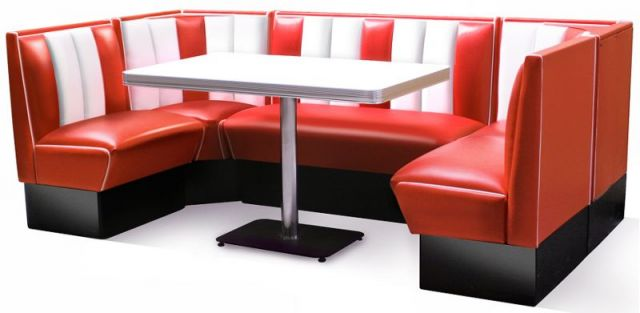 Bel Air Diner Eckbank Mit Tisch HW 240 Set