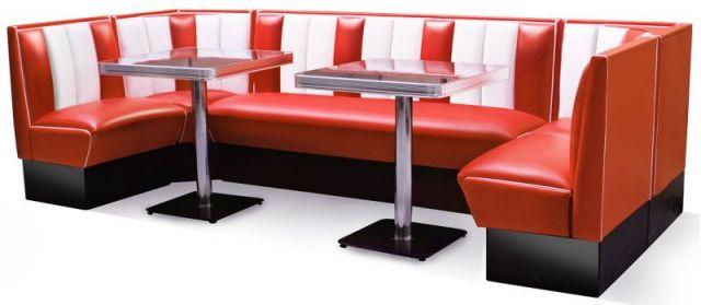 Bel Air Diner Eckbank Mit Tisch HW 300 Set