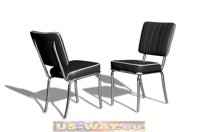 reproduktion amerikanischer dinerst hle fach. Black Bedroom Furniture Sets. Home Design Ideas
